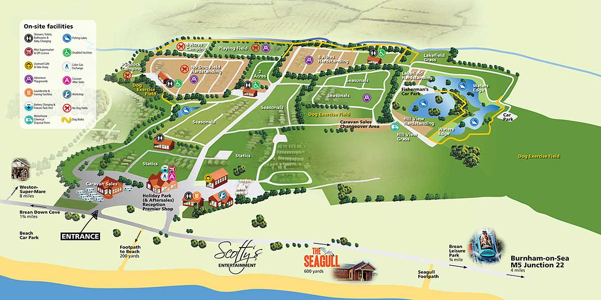 Northam Farm Facilities Map With Image Enlargements